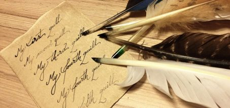Making a quill pen